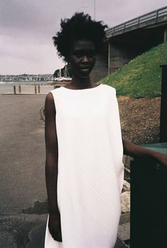 white dress with subtle texture #style #fashion