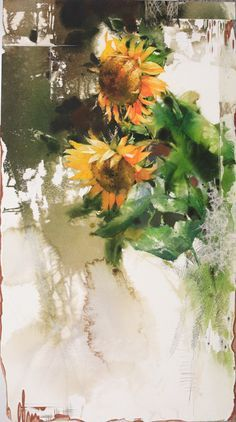 신종식 수채화 모음집에 대한 이미지 검색결과 Watercolor Artists, Watercolor And Ink, Watercolour Painting, Watercolors, Watercolor Sunflower, Watercolor Flowers, Sunflower Design, Fruit Painting, Colorful Pictures