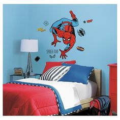 RoomMates Marvel Classic Spiderman Peel and Stick Giant Wall Decals : Target