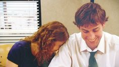 Jim and Pam Halpert - one of my fav episodes  I LOVED this.  The fact that they are BOTH actually blushing gets me every time!