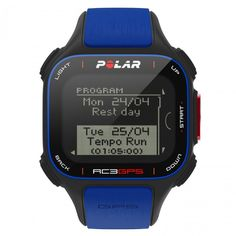 Relógio Esportivo com Monitor Cardíaco Polar RC3 GPS Resistente à Água - Azul/Preto - Esporte e Fitness