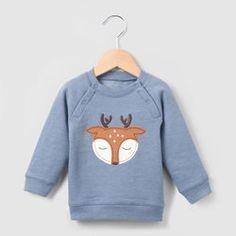 """Sweat """"Cerf"""" 0 mois-3 ans R mini - Cadeau de naissance"""