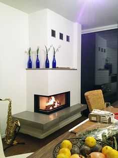 Fireplaces, House Design, Home Decor, Fireplace Set, Home Furniture, Fire Places, Trendy Tree, Indoor Fire Pit, Living Room
