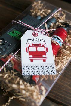 Adorable firefighter kit fire man party favor ideas!