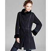 Maximilian Lamb Shearling Coat with Leather Trim Jan $2,097 from$ 3,500 Bloomies