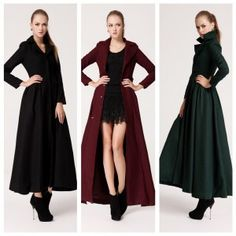 Autumn Winter Women Long Overcoat Turn-down Collar Long Sleeve Slim Coat Outerwear