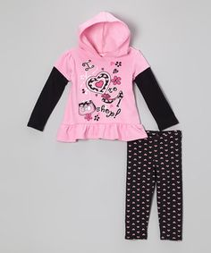 Pink 'I Love to Shop' Layered Tunic & Leggings - Infant & Toddler