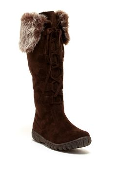 Mishasha Faux Fur Lace-Up Boot by Bucco on @nordstrom_rack