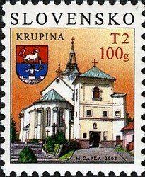 Stamp: Krupina (Slovakia) (Definitive Issues - Towns) Mi:SK 574,Yt:SK 499,AFA:SK 555,WAD:SK003.08,POF:SK 415
