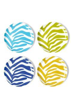 Jonathan Adler 'Zebra' Porcelain Coasters