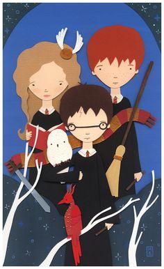 Harry Potter paper art <3