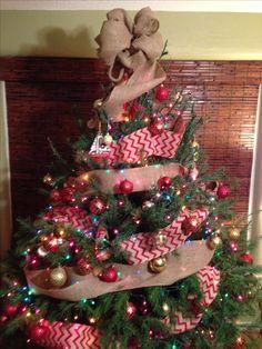 Chevron Burlap Christmas tree