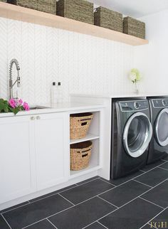 Modern Laundry Room Remodel - The Greenspring Home