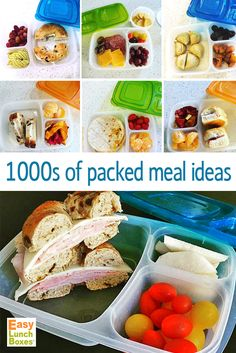 Never run out of packed meal ideas again! Thanks to all who share what they're packing in my EasyLunchboxes containers :) (featured lunches are by idreamoflunch via Instagram)