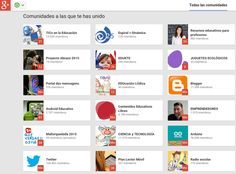 Crea y aprende con Laura: 107 Comunidades Educativas de #Google+