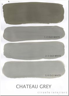 Chateau grey chart from Annie Sloan paints
