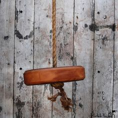 This would be adorable in a bedroom.  One Person Wood Tree Swing, from Michele Varian.