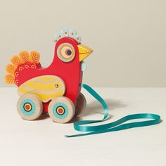 Polka the Pull-along Hen - Baby & Toddler Toys - Toys & Gifts