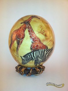 Exotic Vibrant South African Ostrich Egg by NinsWildCreations, $49.00