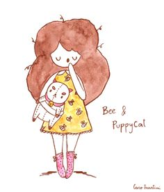Sleepy Bee and PuppyCat ^-^  Thanksmywhisperedcolorsthis is soooo beautiful! We love how PuppyCat looks like plushie. EEEEEEP! So cute. Keep up the awesome stuff. We love Bee's dress too. If you want to submit moreBee and Puppycatfan art,click here! -Kiki