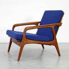 Mid Century Modern Easy Chair Teak Denmark 60s   Danish Modern Sessel 60er 1/2