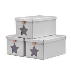KIDS CONCEPT Kenkälaatikko, 3 kpl, harmaa