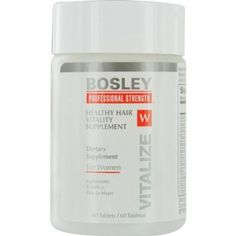 Bosley Healthy Hair Vitality Supplement for Women, 60 Count pack): Bosley, the most recognized hair restoration brand in the world, has created professional strength for thicker fuller looking hair. What Causes Hair Loss, Prevent Hair Loss, Best Hair Loss Products, Beauty Products, Supplements For Women, Strong Nails, Hair Loss Women, Hair Loss Remedies