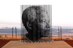 Sculpture of Nelson Mandela by designer Marco Cianfanelli, unveiled in Howick (KwaZulu-Natal Midlands) to commemorate 50 years since Mandela was arrested and charged for treason. #Madiba
