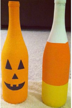 halloween wine bottle craft created by me!  Want one? visit my etsy shop :)