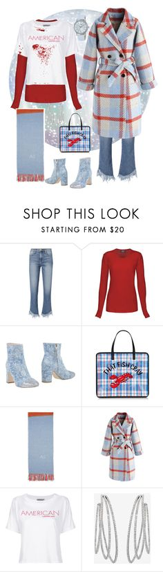 """Blue plaid"" by bsopke ❤ liked on Polyvore featuring Frame, Polly Plume, Acne Studios, Chicwish, Calvin Klein Jeans, Messika and Lorus"