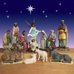 "Life Size African American Nativity Set - 12 Pc Outdoor-Create a majestic outdoor display with these near life size Nativity figures. Perfect choice for a stunning yard or Church Nativity. Dimensions:  Tallest figure is 57"" Angel (see individual items for height per figure) Weight:  Figures average about 45 lbs each (see individual items for exact weight) $3,599.00 http://www.christmasnightinc.com/c39/c260/Life-Size-African-American-Nativity-Set-12-Pc-Outdoor-p1296.html#"