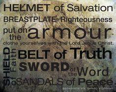 Contemporary Scripture Printables Art Armor of God-Ephesians 6:10-18. $5.50, via Etsy.