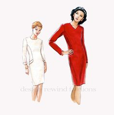 1990s CloseFitting DRESS Tapered Jewel or by DesignRewindFashions, $15.00