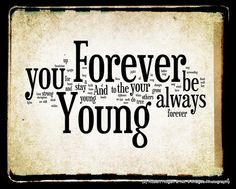 Forever Young Lyrics - Bob Dylan Word Art - Word Cloud Art Woodblock Print - Gift Idea via Etsy