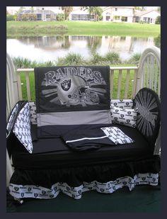 Oakland Raiders Baby Crib Bedding