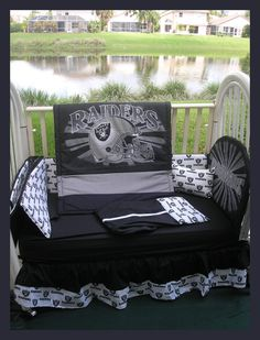 Oakland Raiders Crib Bedding