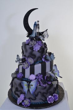 Nightmare Before Christmas Birthday Cakes | Nightmare Before Christmas Wedding Cake Topper