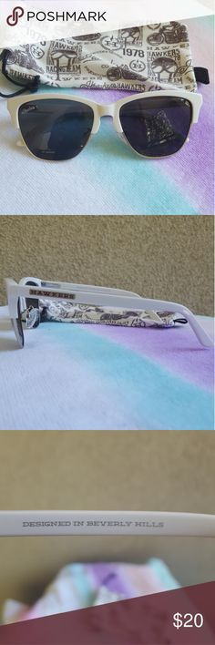 NWOT Hawkers Sunglasses NWOT Hawkers Glasses White with Black Frames Designed in Beverly Hills Hawkers Accessories Sunglasses