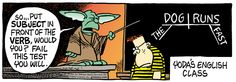 Yoda on diagramming sentences