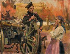 """""""Gunner and Girl"""" (1909) - Wojciech Kossak"""
