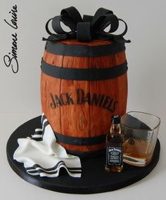 Jack Daniels barrel cake ♥the perfect Groom's Cake!!