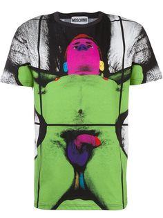 MOSCHINO Gilbert & George Print T-Shirt. #moschino #cloth #t-shirt