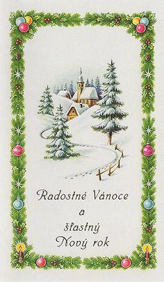 Vánoční novoročenka Winter Time, Christmas Greetings, Santa, Vintage, Xmas Cards, Christmas Cards, Vintage Comics, Christmas Card Sayings