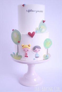The cutest cake~ thatbakinggirl | My Gallery