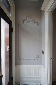 Mrs. Limestone's vestibule makeover. What wonderful plaster work!