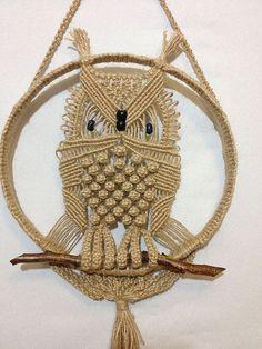 Resultado de imagen para owl macrame