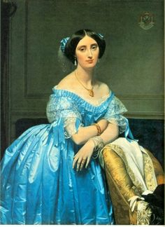 """Princesse de Broglie"",   Painted by:   Jean-Auguste-Dominique Ingres (French, 1780–1867)  Oil on canvas  47 3/4 x 35 3/4 in. (121.3 x 90.8 cm)  The Metropolitan Museum of Art"