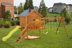 wooden swingset | Beiler's Structures | Wood Swing Sets