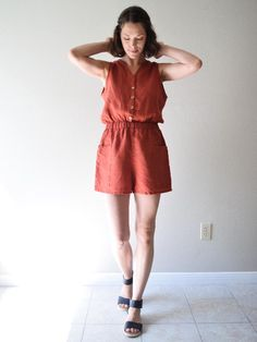 c3f2c6a2c7 Romper made with linen
