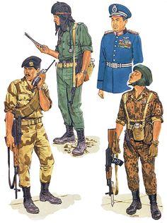 """Egypt""   • As-Sa'iqa commando; Nicosia, 1978  • Tank officer, 1983  • Air Force lieutenant-general, 1981  • Paratrooper, 140th Para Bde., 1982"